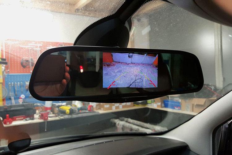 Immagine Retro visore per parcheggio con sensori